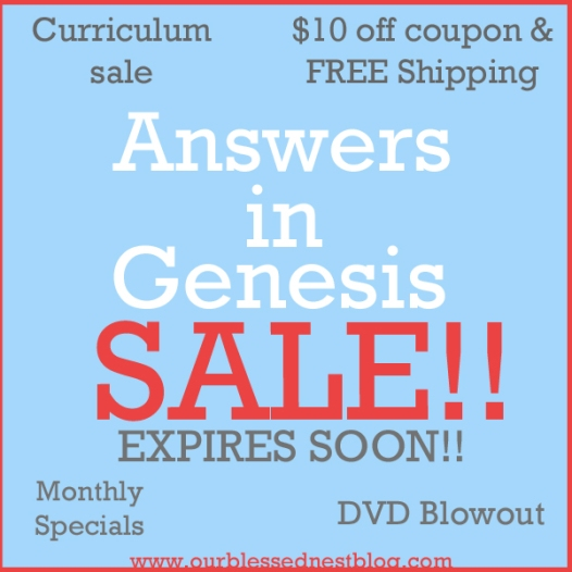 Homeschooling our blessed nest blog 10 off coupon free shipping shop answers in genesiss online shop and use the 10 off coupon code on orders of 50 or more use coupon code mayfree fandeluxe Images