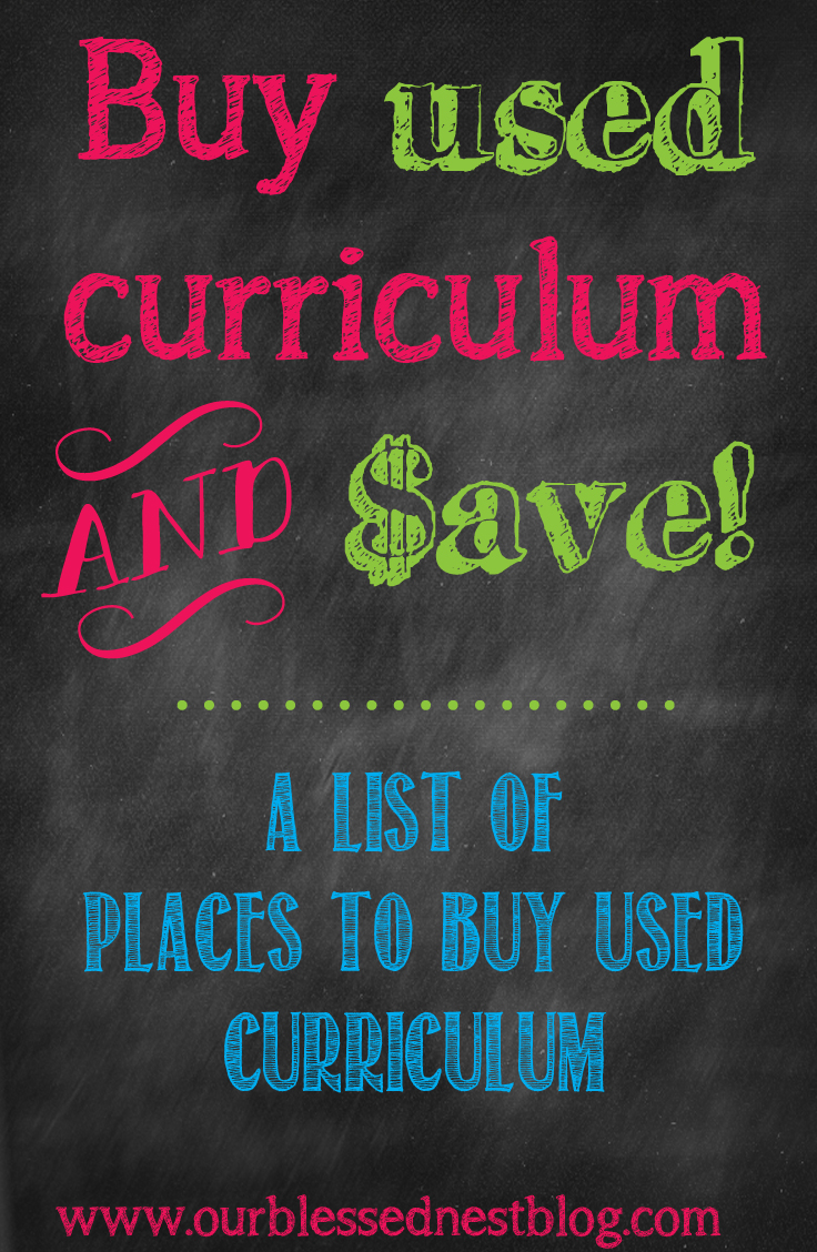 Homeschooling our blessed nest blog save used curriculum pin fandeluxe Images